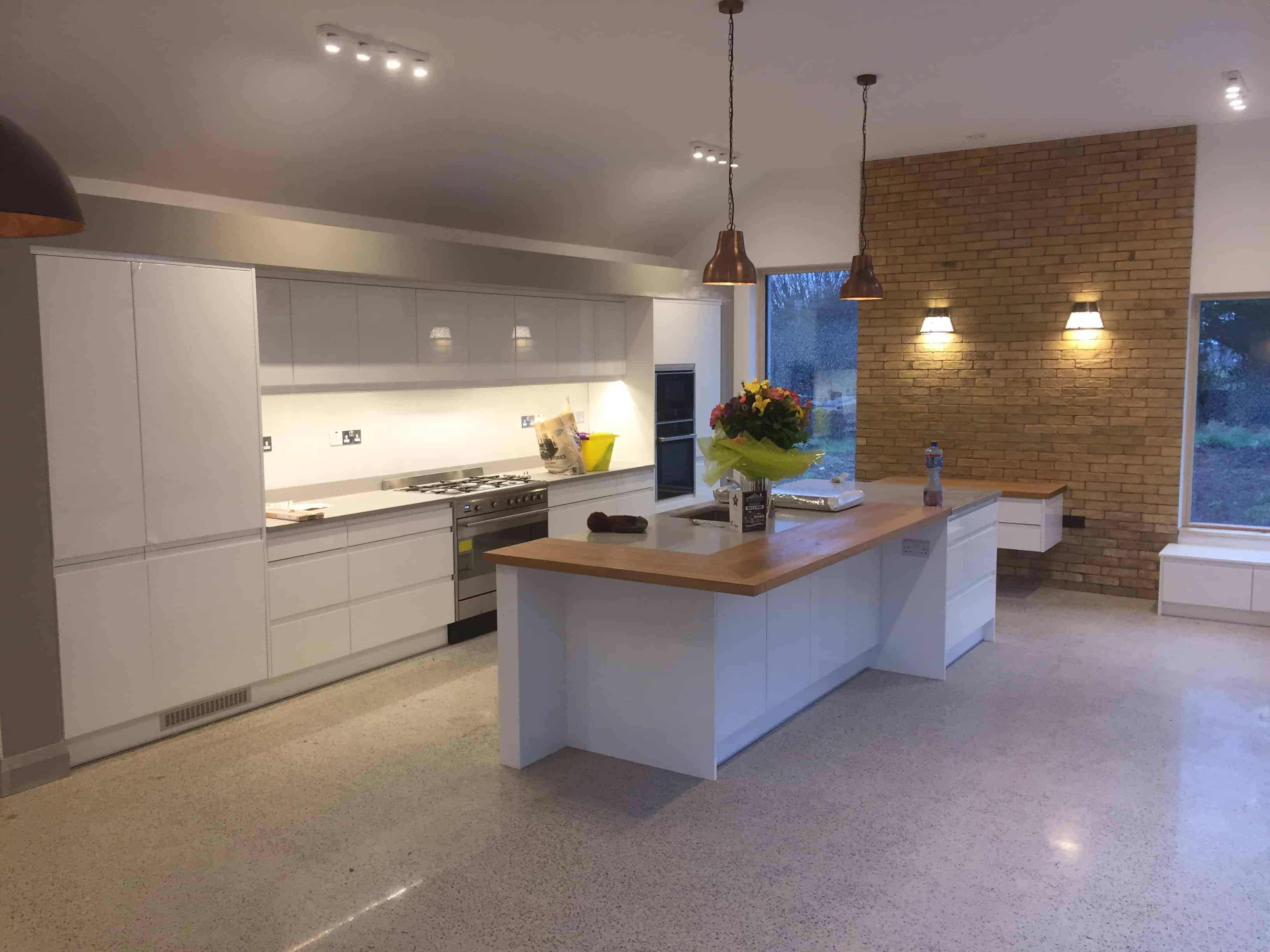 Kitchen Floor tiles and wall tiles by NCon Tiling Ltd Tiling Contractors