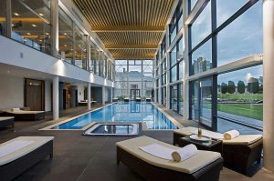 Sunroom tiling - pool tiling at Castlemartyr resort in Cork